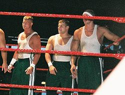 Nick_Nemeth,_Michael_Brendli,_and_Ken_Doane_during_a_tag_team_match