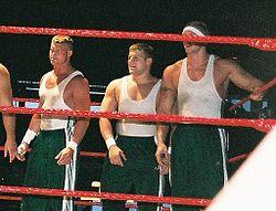 Nick_Nemeth,_Michael_Brendli,_and_Ken_Doane_during_a_tag_team_match